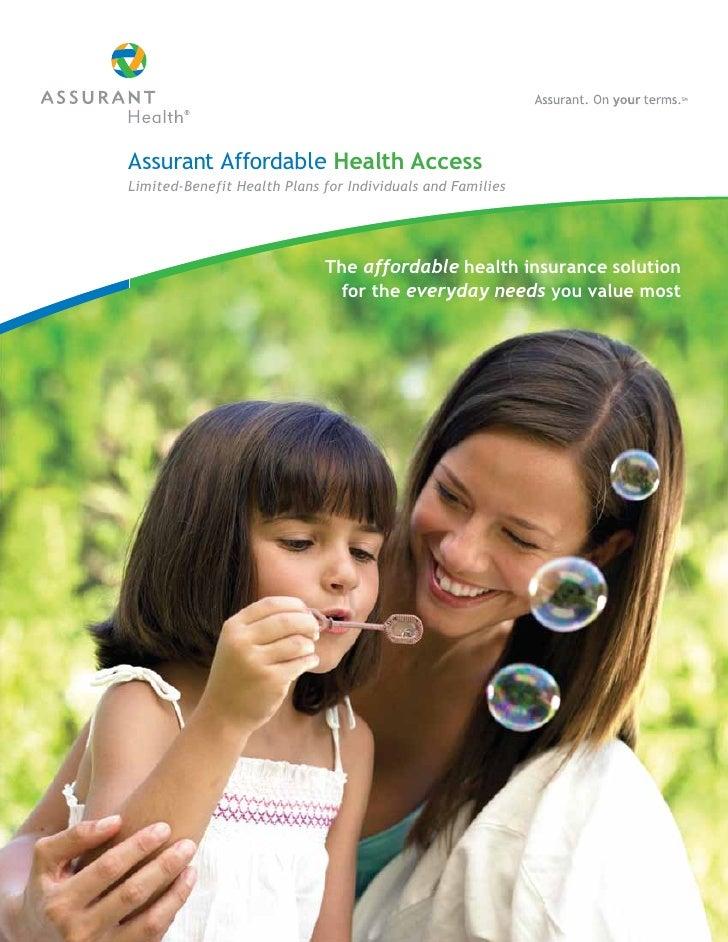 Health Acess Plan Brochure From Assurant Health