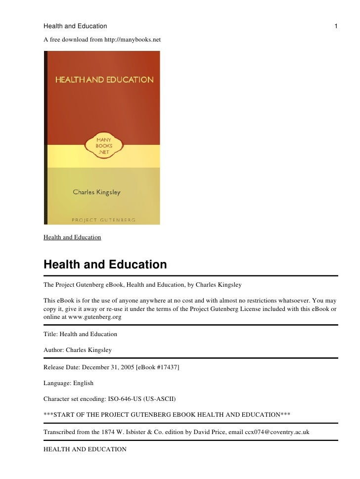Health and Education                                                                                          1  A free do...