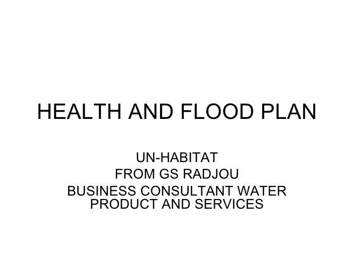 Health and flood plan