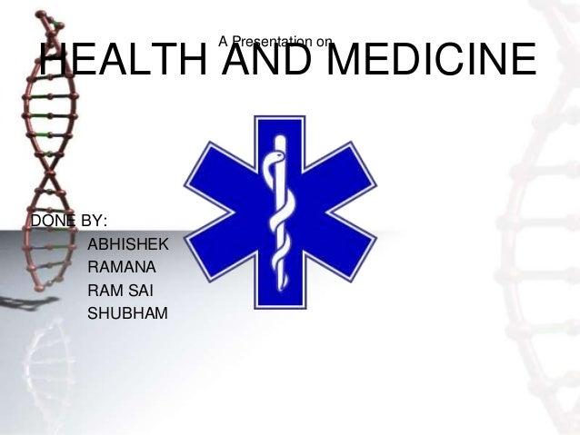 Health and medicine 1