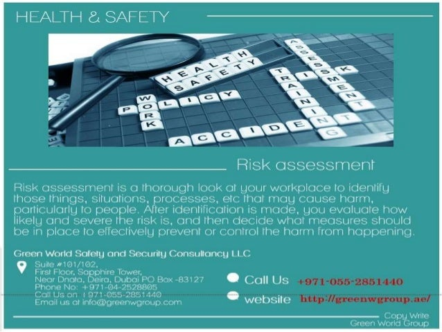 risk assesment health saftey and security Health & safety workbook 3 11 risk assessment risk assessment risk assessment is a tool to help an organisation prevent accidents and ill health occurring the requirement for risk assessment was first legally introduced in 1992 with the management of health and safety at work regulations, even though the.