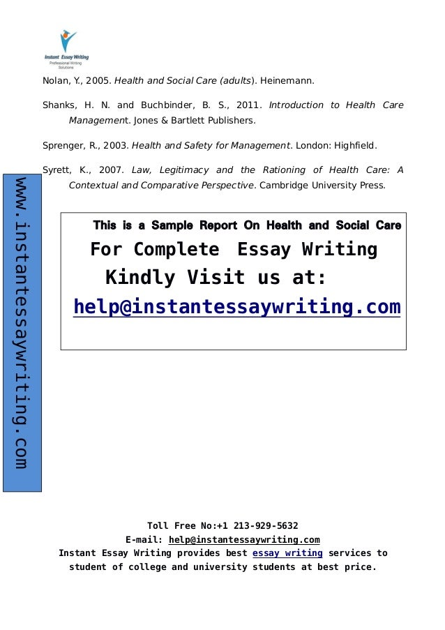 Write my health care essays