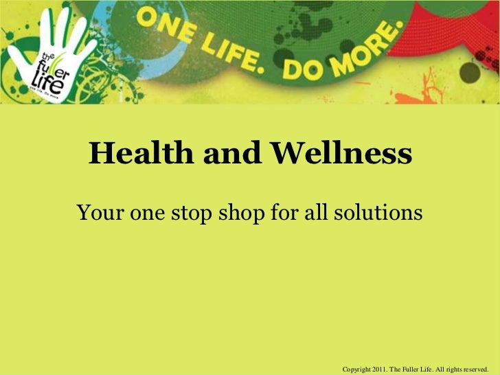 Health and Wellness<br />Your one stop shop for all solutions<br />