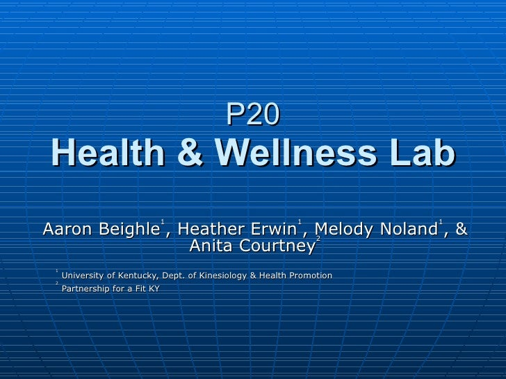 Health and wellness lab