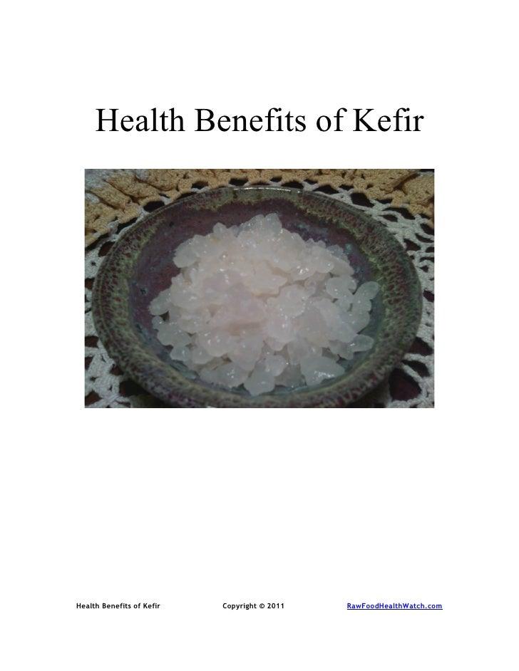 Health Benefits of Kefir