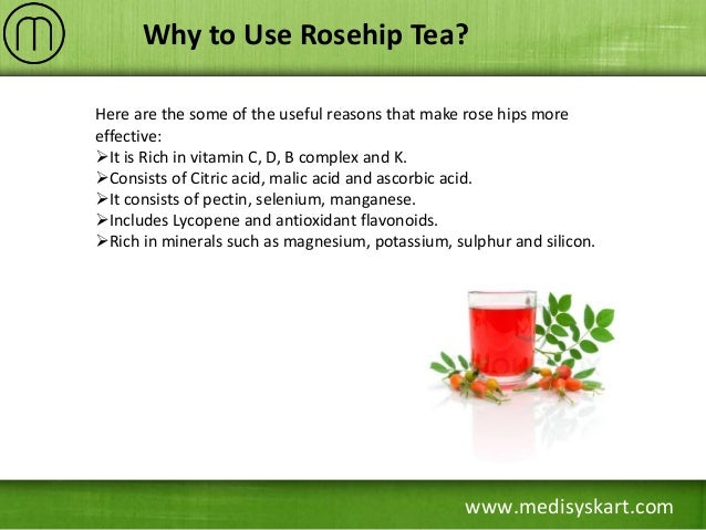 Rose hips tea health benefits