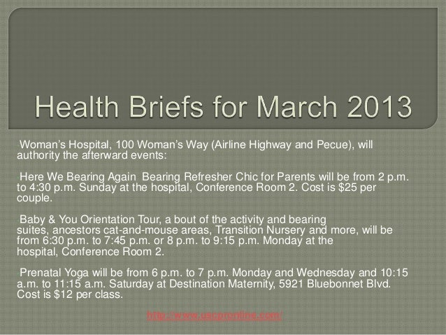 Health briefs for march 2013