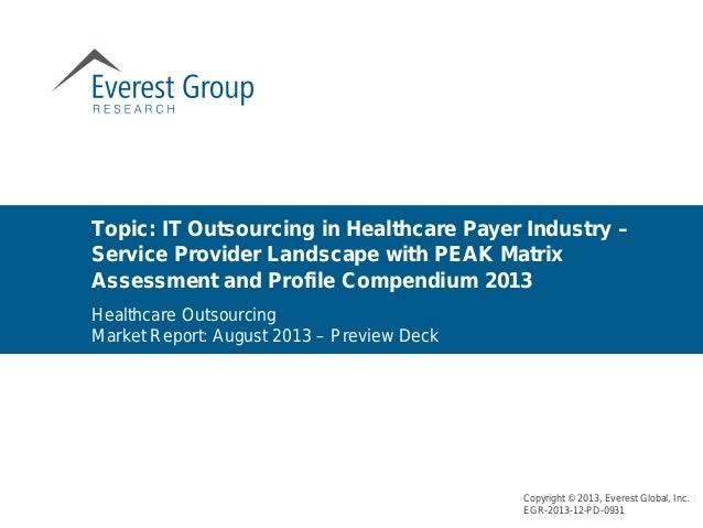 Topic: IT Outsourcing in Healthcare Payer Industry – Service Provider Landscape with PEAK Matrix Assessment and Profile Co...