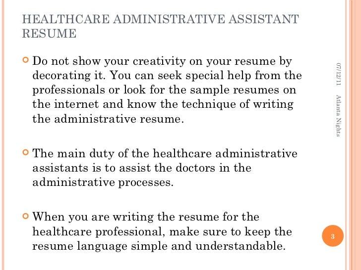 Sample medical administrative assistant resume