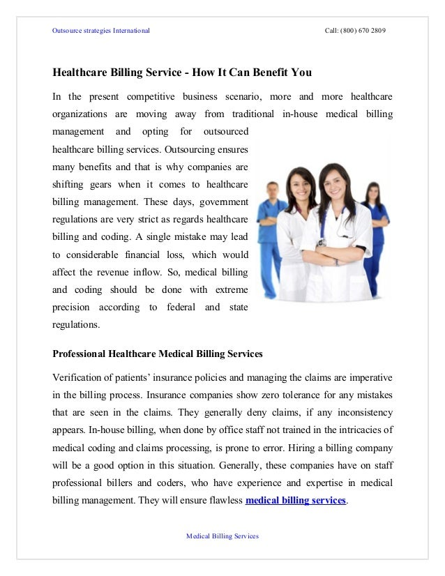 Healthcare billing service   how it can benefit you