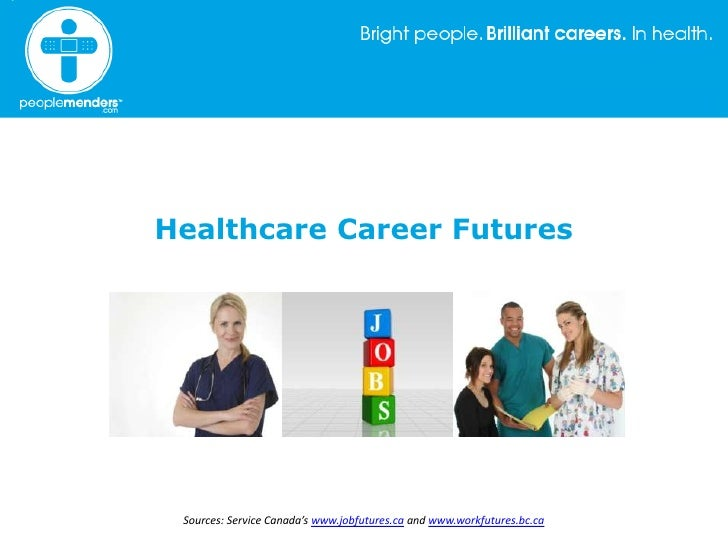 Healthcare Career Futures<br />Sources: Service Canada's www.jobfutures.ca and www.workfutures.bc.ca<br />