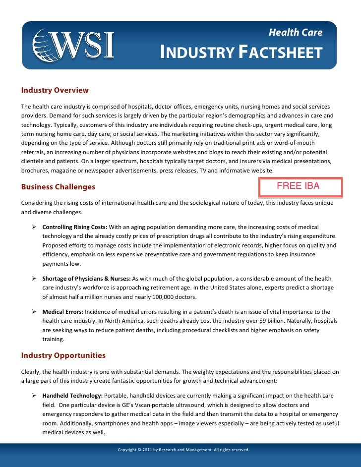 Health Care Fact Sheet (digital marketing) by WSI Online