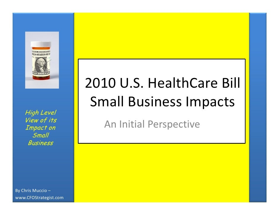 Impact of Healthcare Reform on Small Business