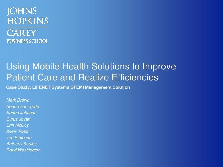 Using Mobile Health Solutions to Improve Patient Care and Realize Efficiencies