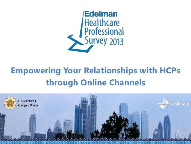 Healthcare professional survey 2013 (blog cut)