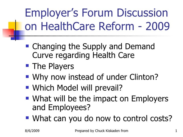 Health Care Reform 2010
