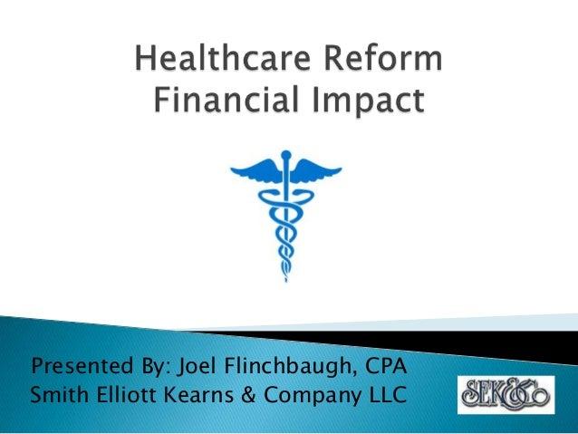 Healthcare reform seminar 1042012