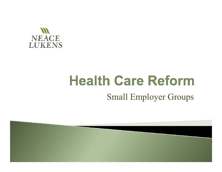 Small Employer Groups