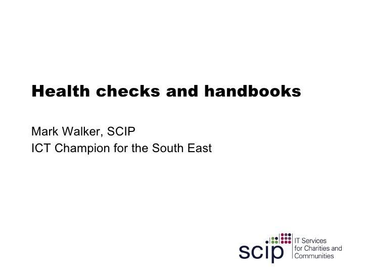 Health Checks And Handbooks
