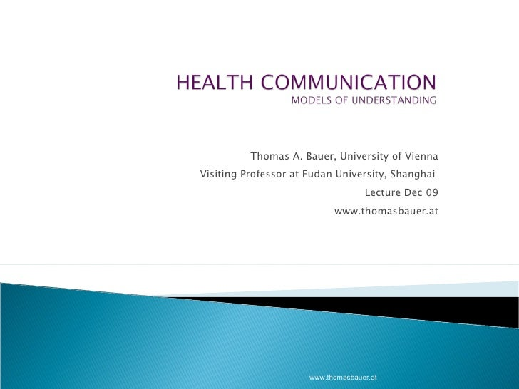 Thomas A. Bauer, University of Vienna Visiting Professor at Fudan University, Shanghai  Lecture Dec 09 www.thomasbauer.at ...