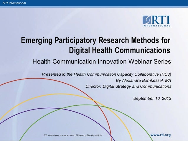 Emerging Participatory Research Methods for Digital Health Communications