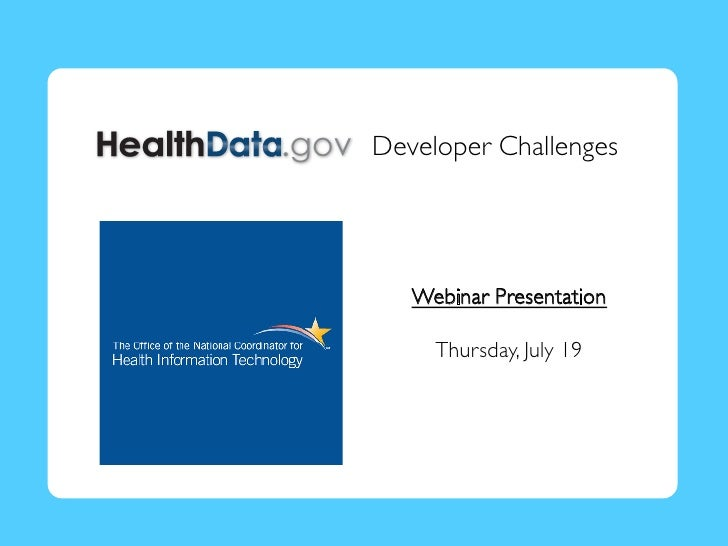 Healthdata.gov Challenge Webinar