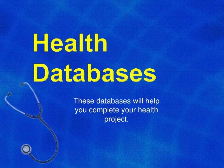 Health databases