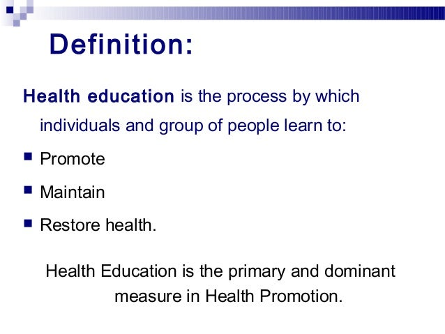 health promotion education The required knowledge for lifespan mental health promotion and prevention for master's level mental health nurse education – the ementhe project.