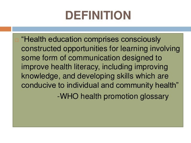 What is your own definition of education?