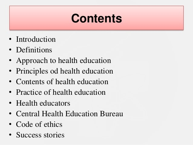explain three approaches to health education Health promotion health & wellbeing approaches todeliver thefollowing outcomes determinants ofhealth health inequalities health services community education.
