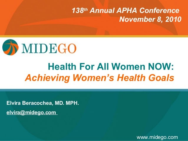 138th Annual APHA Conference                                      November 8, 2010                      Title Page        ...