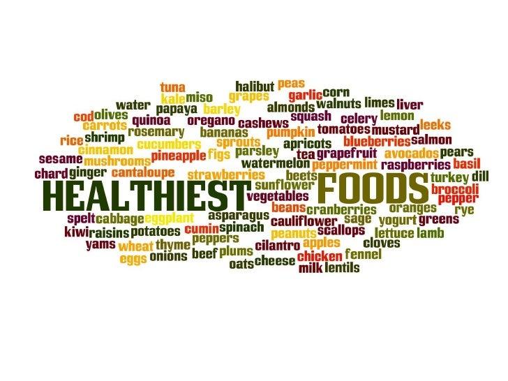 Healthiest foods ppp