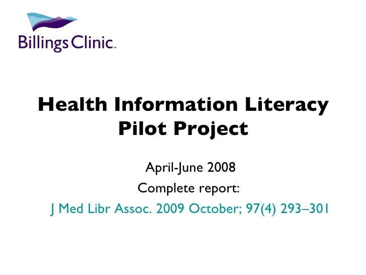 RML Rendezvous - Health Information Literacy