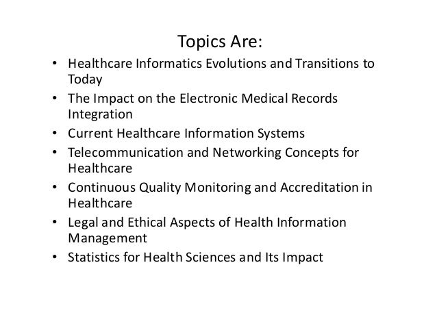 informatics in the healthcare industry essay Our healthcare informatics degree prepares you for management and leadership roles in the healthcare industry essay: 500-word personal.