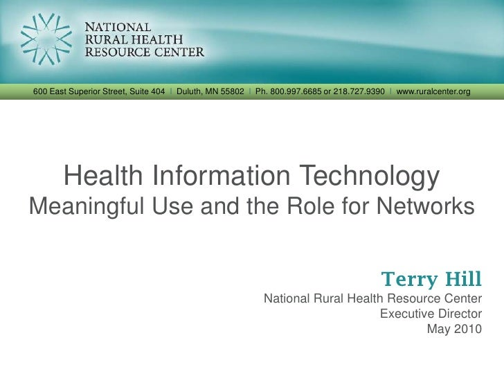 Health information technology networks presentation