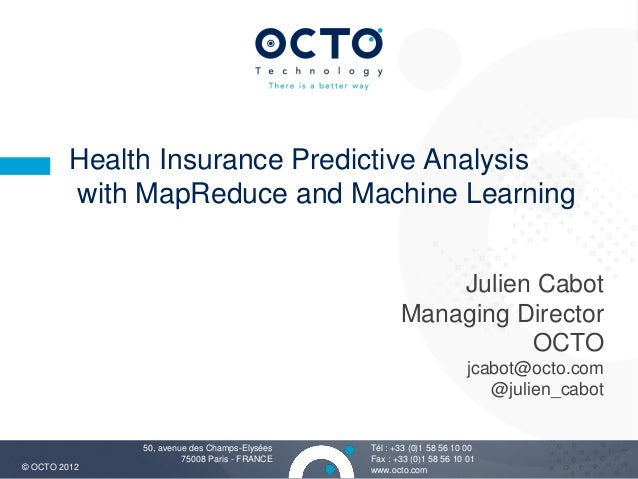 Health Insurance Predictive Analysis         with MapReduce and Machine Learning                                          ...