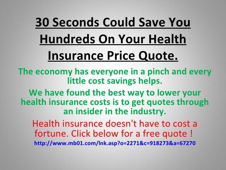 Health insurance price quote