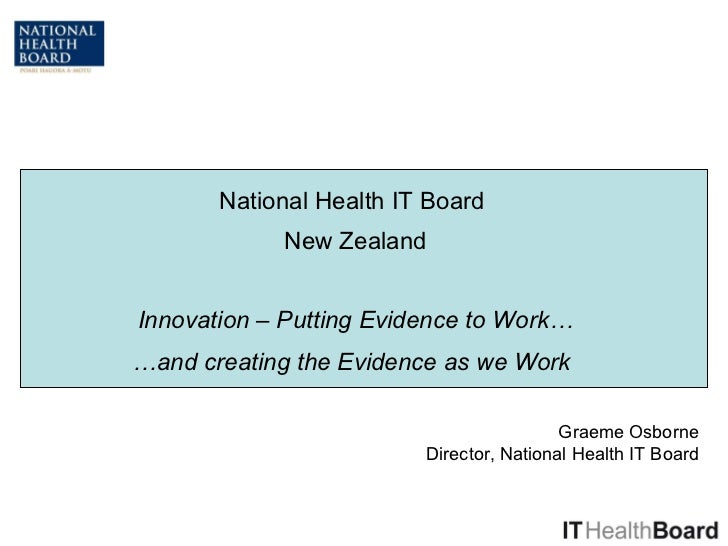 National Health IT Board Update: Putting Evidence to Work and Creating Evidence as we Work