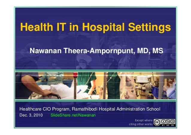 Health IT in Hospital Settings