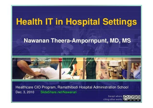 Health IT in Hospital Settings