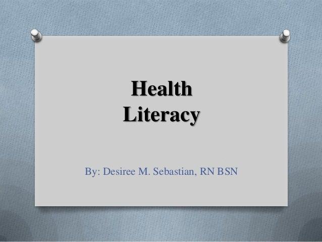 Health literacy p pt ds