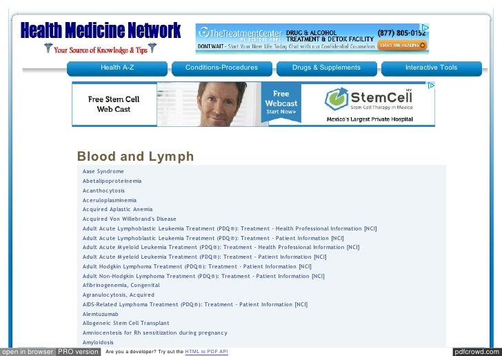 Healthmedicinet blood and lymph
