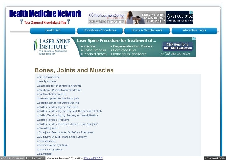 Healthmedicinet bones _joints and muscle