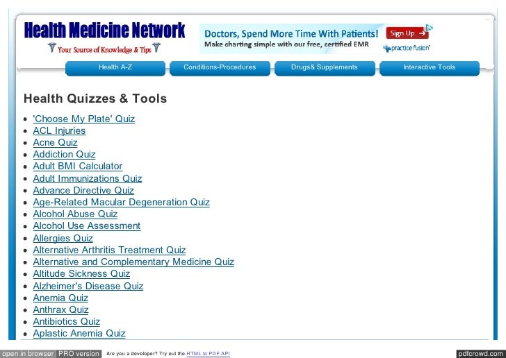Health A-Z                       Conditions-Procedures   Drugs& Supplements   Interactive Tools     Health Quizzes & Tools...