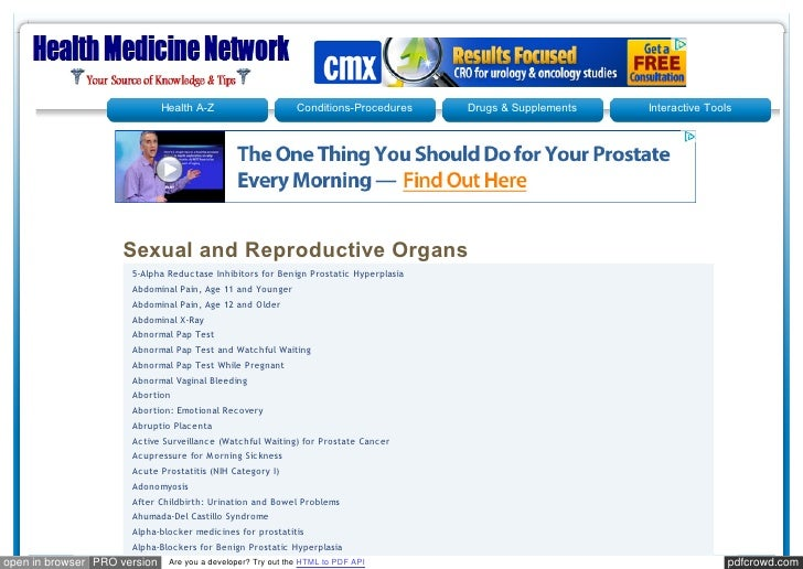 Healthmedicinet sexual and reproductive organs