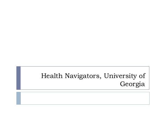 Health Navigators, University of Georgia