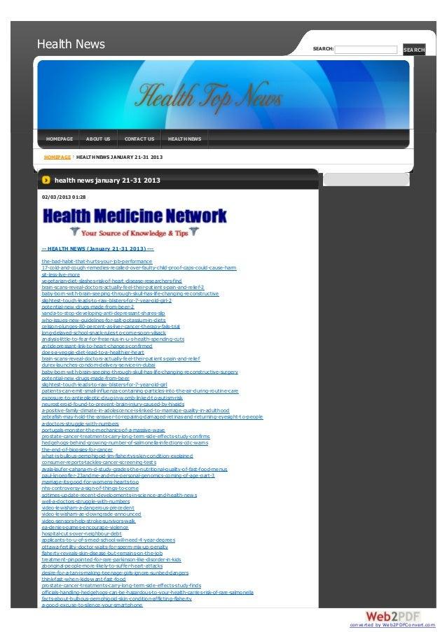 Health News                                                                                    SEARCH:                    ...