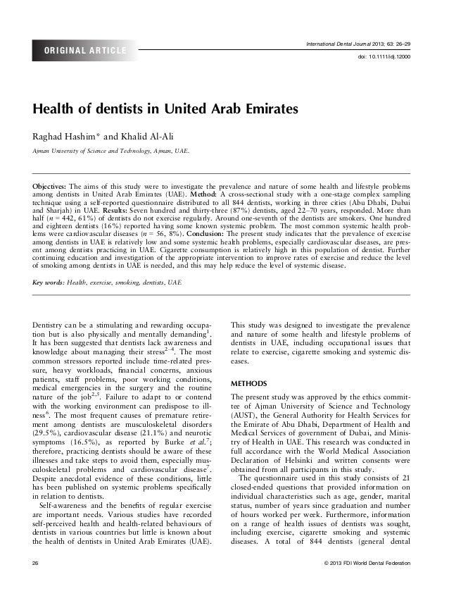 International Dental Journal 2013; 63: 26–29     ORIGINAL ARTICLE                                                         ...