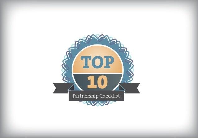 TOP  10  Partnership Checklist