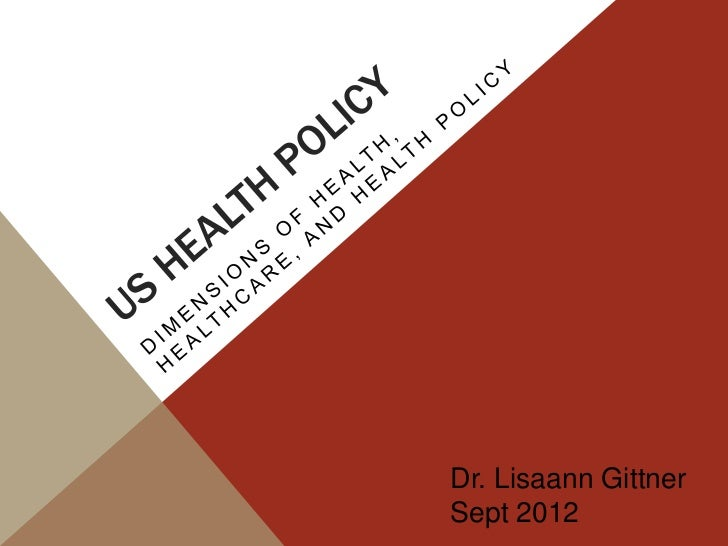 Health policy lecture -